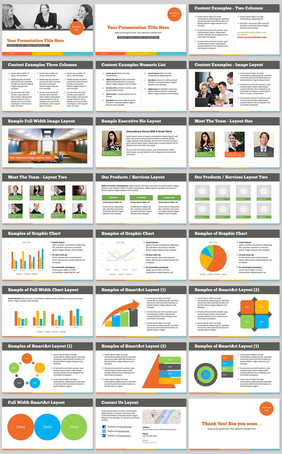 best powerpoint template with a vibrant & modern color theme (hd), Modern powerpoint