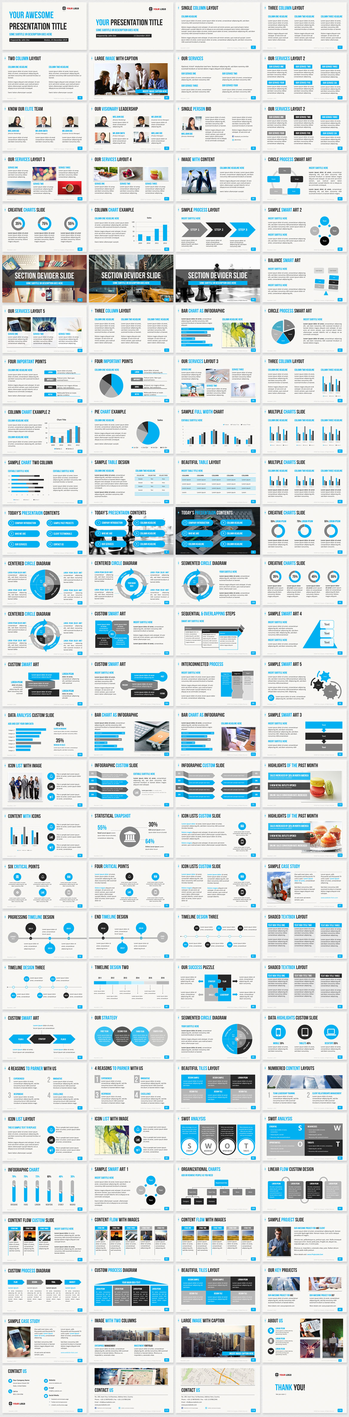 Best Professional Business PowerPoint Template preview
