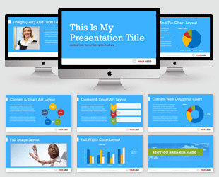 Charming Simple Blue PowerPoint Template Preview Template