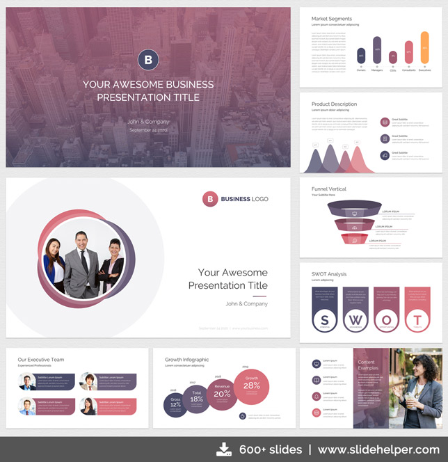 Classy Business Presentation Template with Clean & Elegant PPT Slide ...