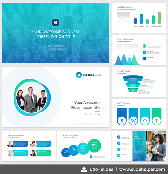 Classy business presentation template with clean elegant ppt slide classy business presentation template ppt blue flashek Images