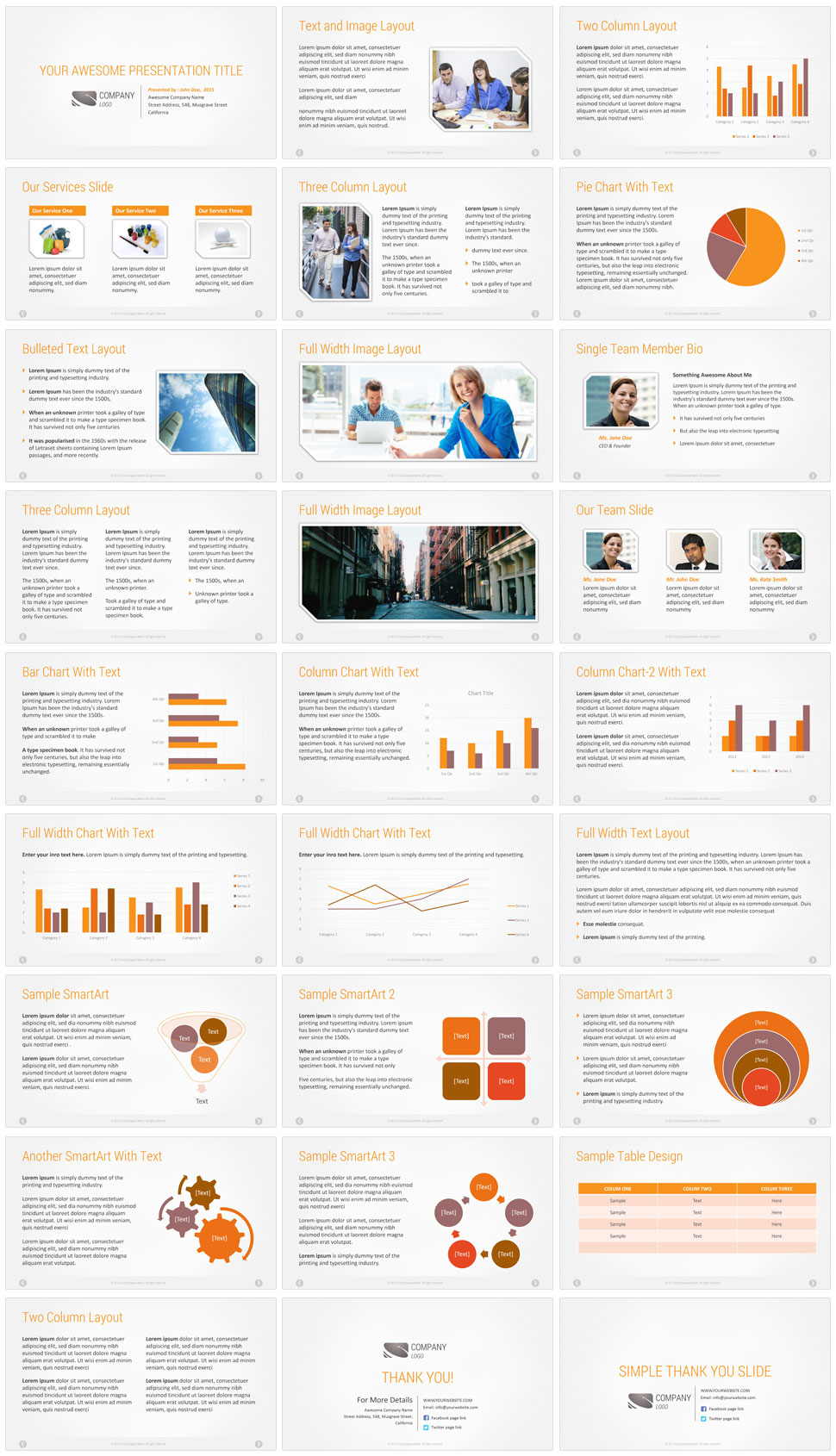 Premium Company Presentation Template Corporate