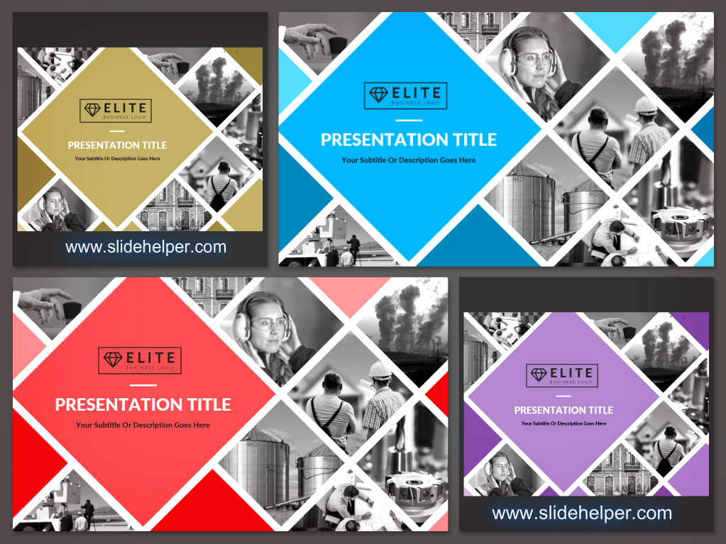 Corporate presentation PowerPoint template cover slide design