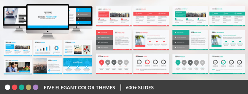 Business powerpoint templates create elegant business slides easily elite corporate powerpoint template wajeb Gallery
