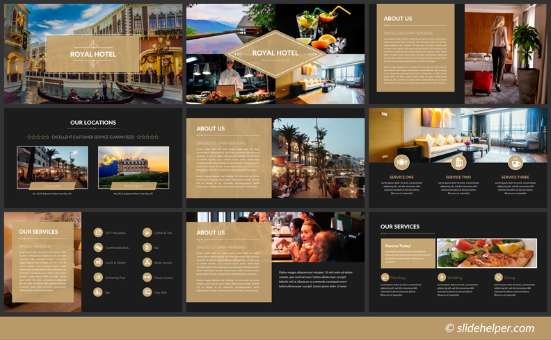 hotel PowerPoint template presentation slides
