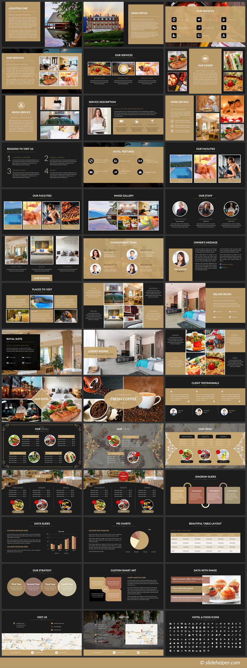 hotel PowerPoint presentation templates for luxury wellness spa management