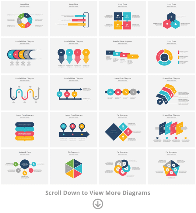 PowerPoint diagram templates and smartarts