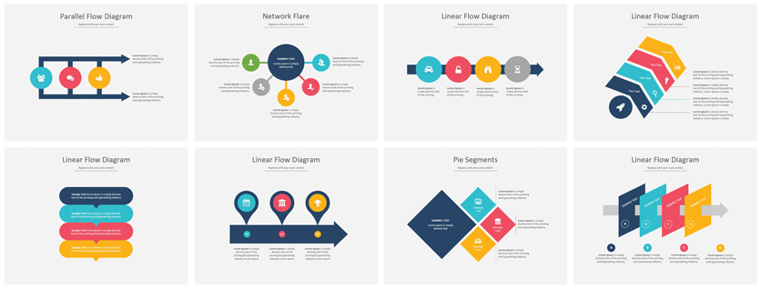 PowerPoint diagrams & SmartArt graphics professional ppt infographics
