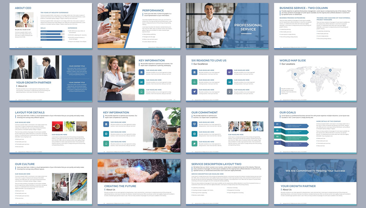Powerpoint layout business