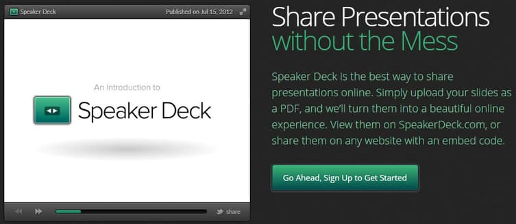Speakerdeck - share presentations online without ads