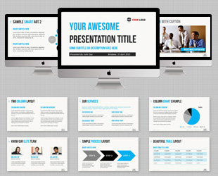 Free 2×2 Matrix Template for PowerPoint