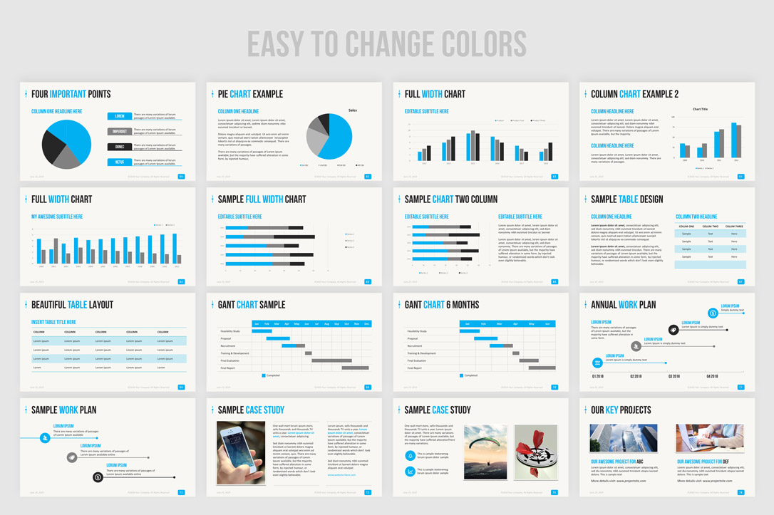 Business PowerPoint presentation template design
