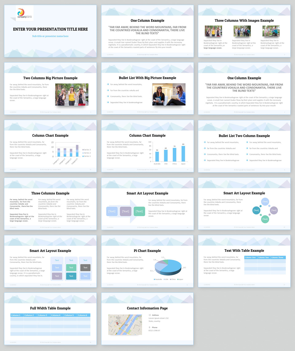Powerpoint Themes: Professional PowerPoint Template