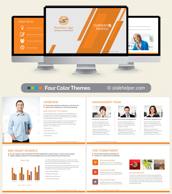 Corporate company profile ppt template professional powerpoint presentation slides