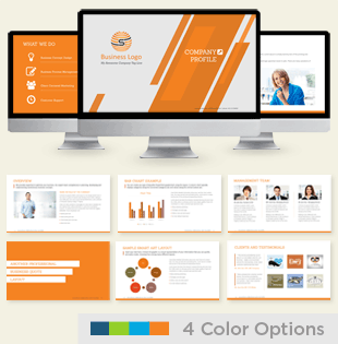 Company Profile Presentation Template Thumbnails.png Preview Template