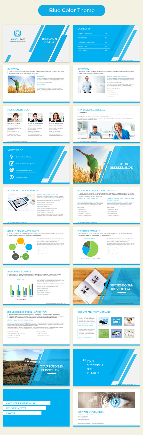 Company profile powerpoint template 350 master ppt slide templates company profile powerpoint template blue preview accmission Images