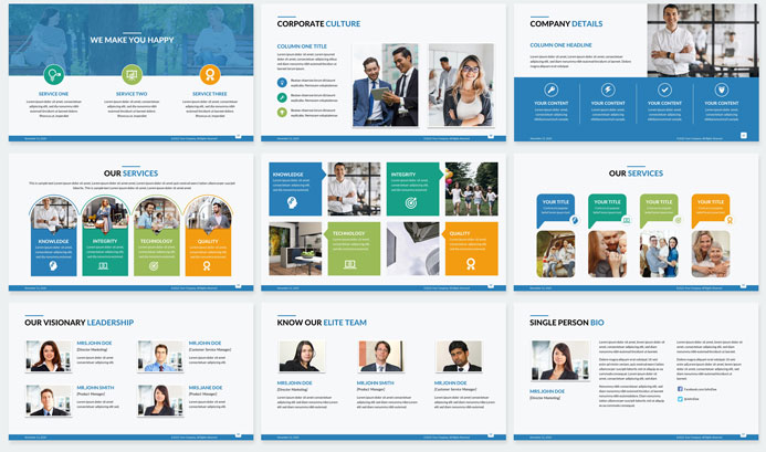 corporate PowerPoint design