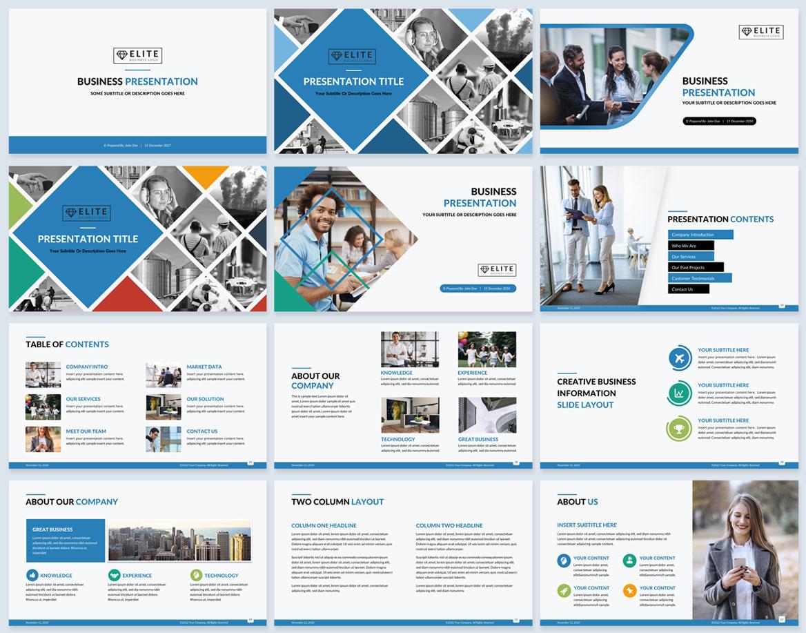 corporate presentation design ppt