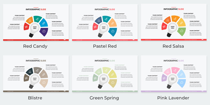 corporate presentation template red pink gray