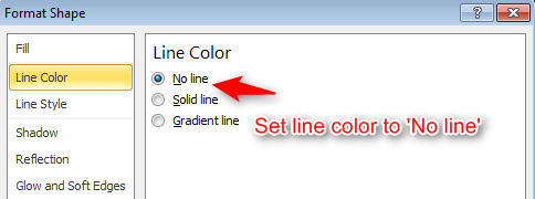 Set-line-color-no-line-remove-underline