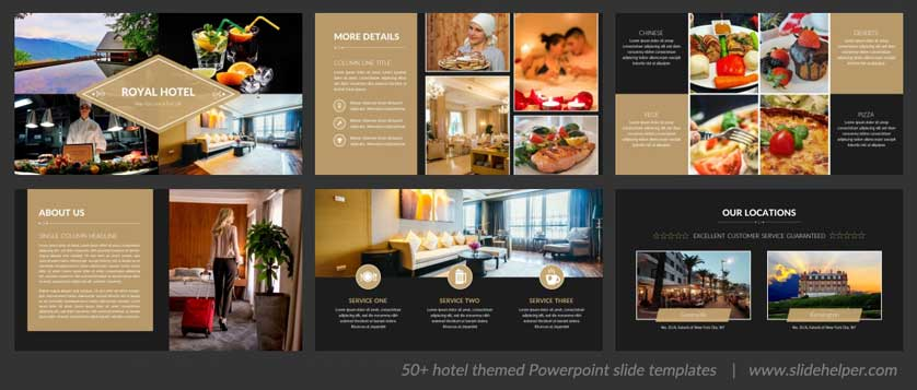 luxury hotel powerpoint template spa and restaurant ppt slides