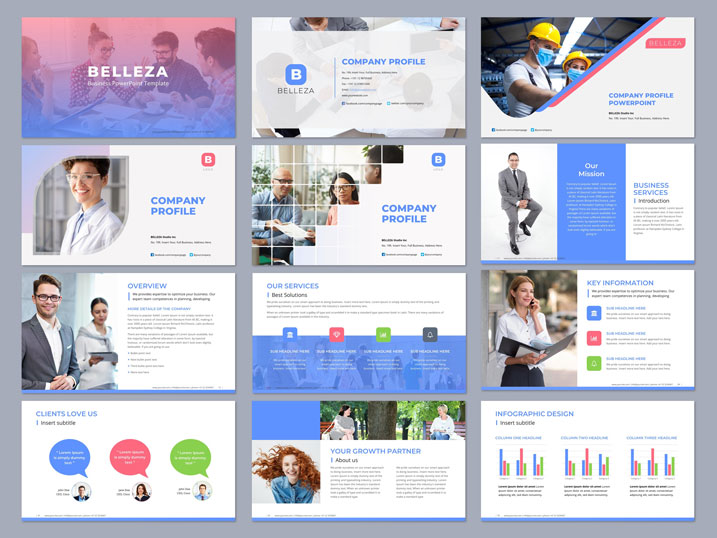 PowerPoint template blue ppt template