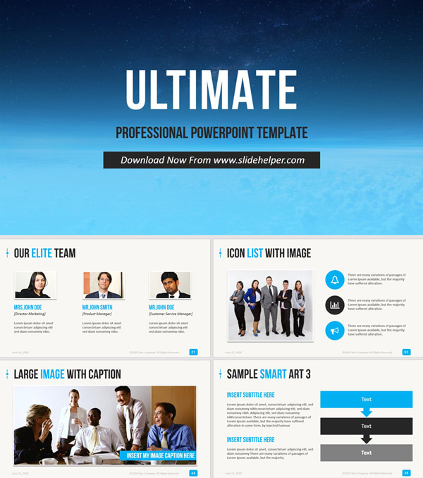 Professional PowerPoint template Ultimate PPT presentation template design layout