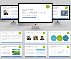 Simple professional PowerPoint Template clean white