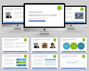 Business powerpoint templates create elegant business slides easily white pixel clean business powerpoint template flashek Gallery