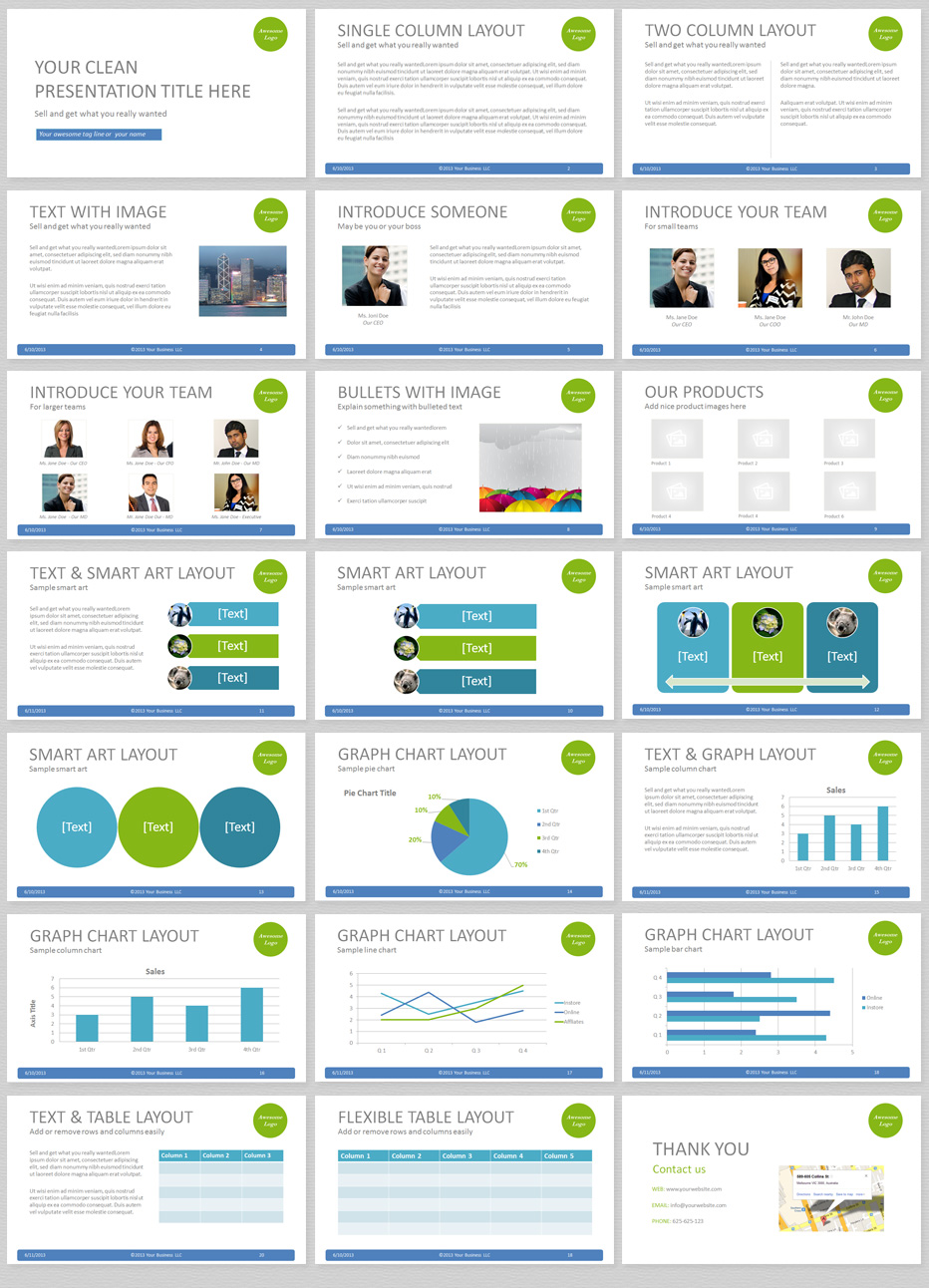 simple powerpoint template with clean and elegant easy to edit slides, Presentation templates